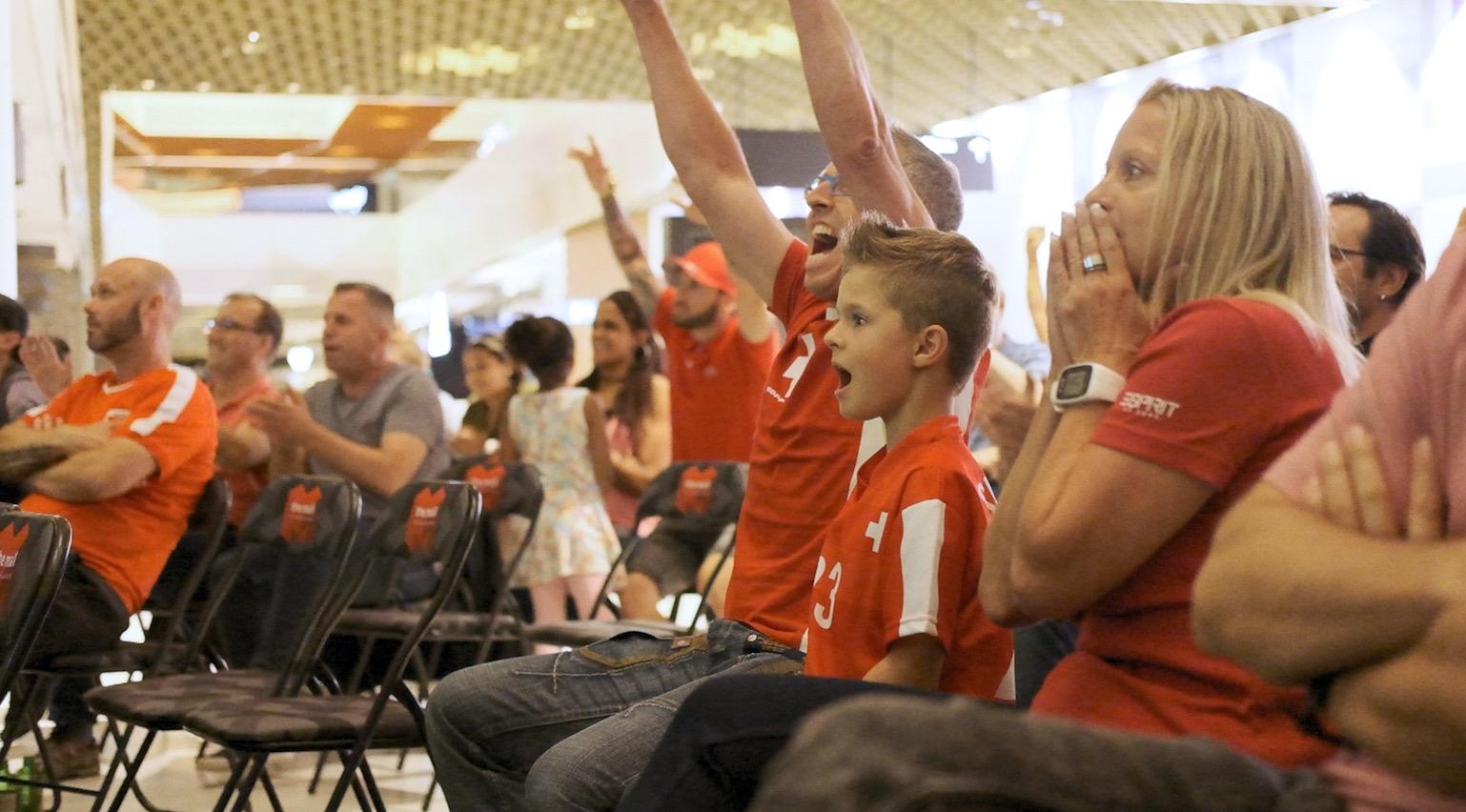 Während der WM fieberten die Fans mit der Schweizer Nati mit.