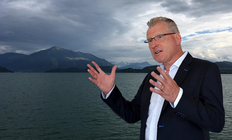Zugs Finanzdirektor Heinz Tännler: «Man könnte auch von Glück sprechen, oder – wie oft bei begehrten politischen Ämtern – davon, zur rechten Zeit am rechten Ort zu sein.»