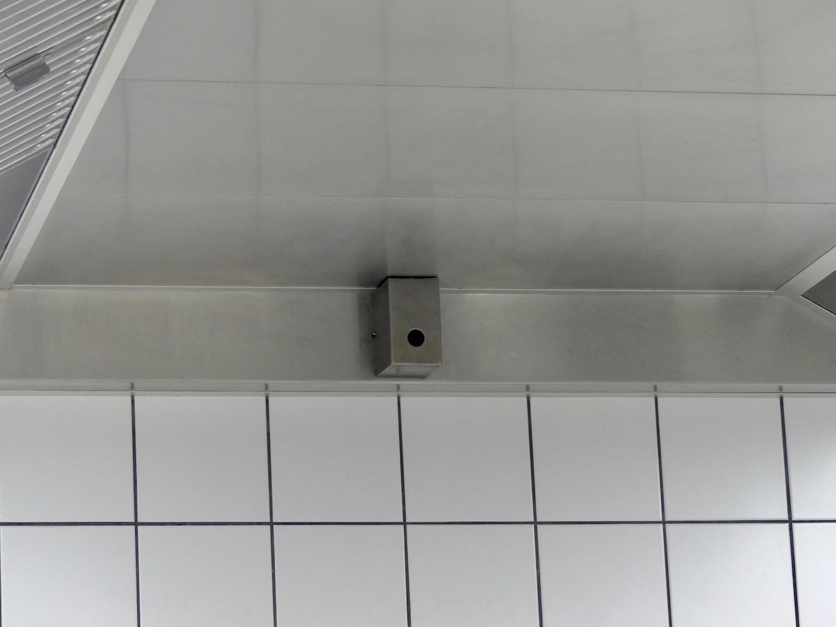 Einer der sechs Sensoren in der Hotelküche.