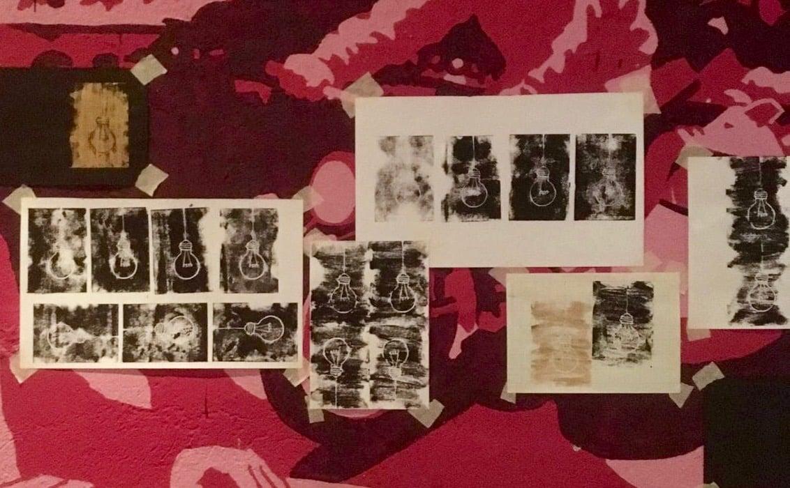 Das Platten-Artworks hat Helen Kilchmann gestaltet, die Vorarbeiten sind in der Jazzkantine ausgestellt.