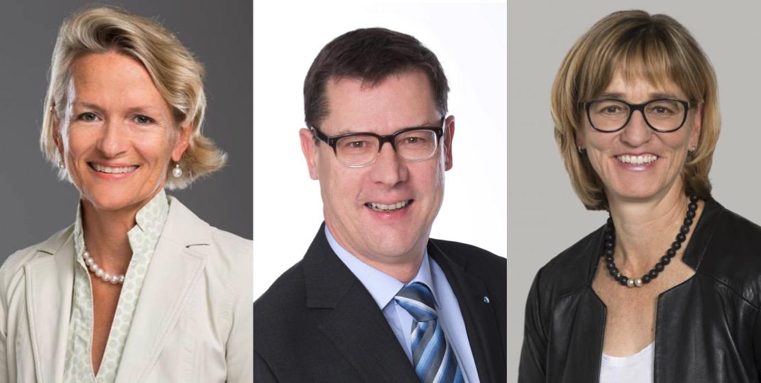 Nationalrätin Andrea Gmür, Fraktionschef Ludwig Peyer und Vizepräsidentin Yvonne Hunkeler wollen für die CVP ins Stöckli.