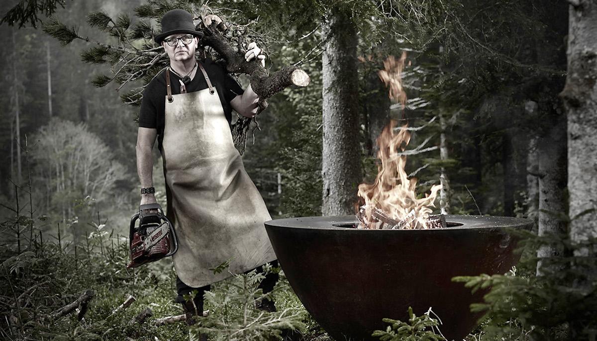 Naturkoch: Stefan Wiesner aus Escholzmatt kocht gerne mit dem Feuerring.