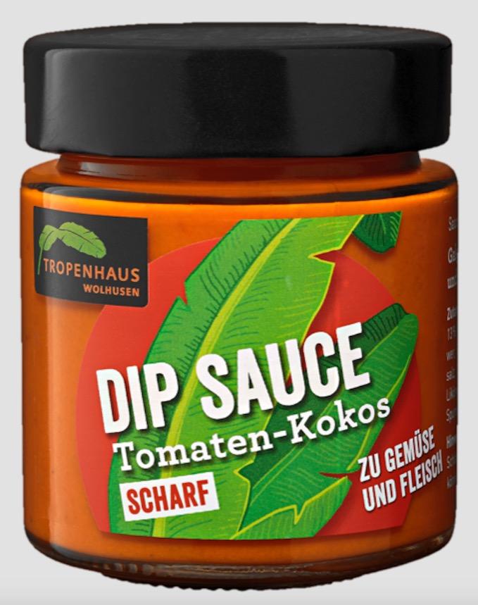 Die Tomaten-Kokos-Dipsauce vom Tropenhaus Wolhusen.