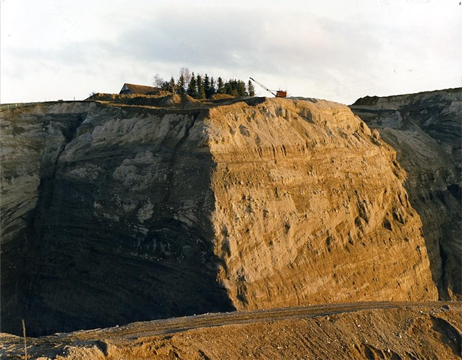 Kiesabbau in den 1980er Jahren: Hier in der Grube Betlehem in Neuheim. (Bild: langjahr-film)