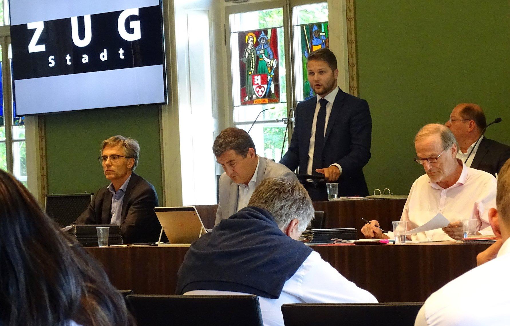 Gregor R. Bruhin, Fraktionschef der SVP im GGR.