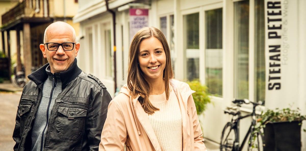 Foto- und Web-TV: Stefan Peter (52) mit Vanessa Ineichen (22).