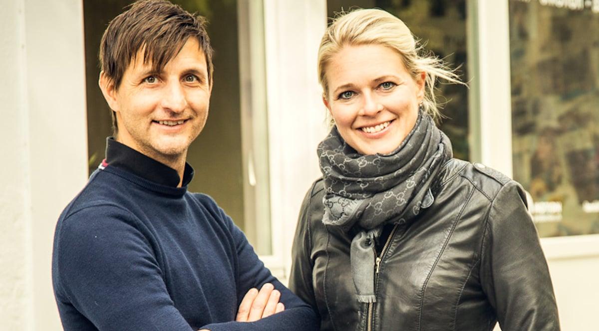 TV-Team: Nicole Bircher (36) mit Stefan Hänni (43).