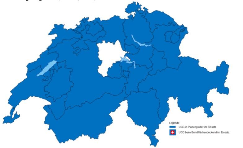 Der Kanton Luzern ist der weisse Fleck auf der Karte – diese Lücke soll nun geschlossen werden.