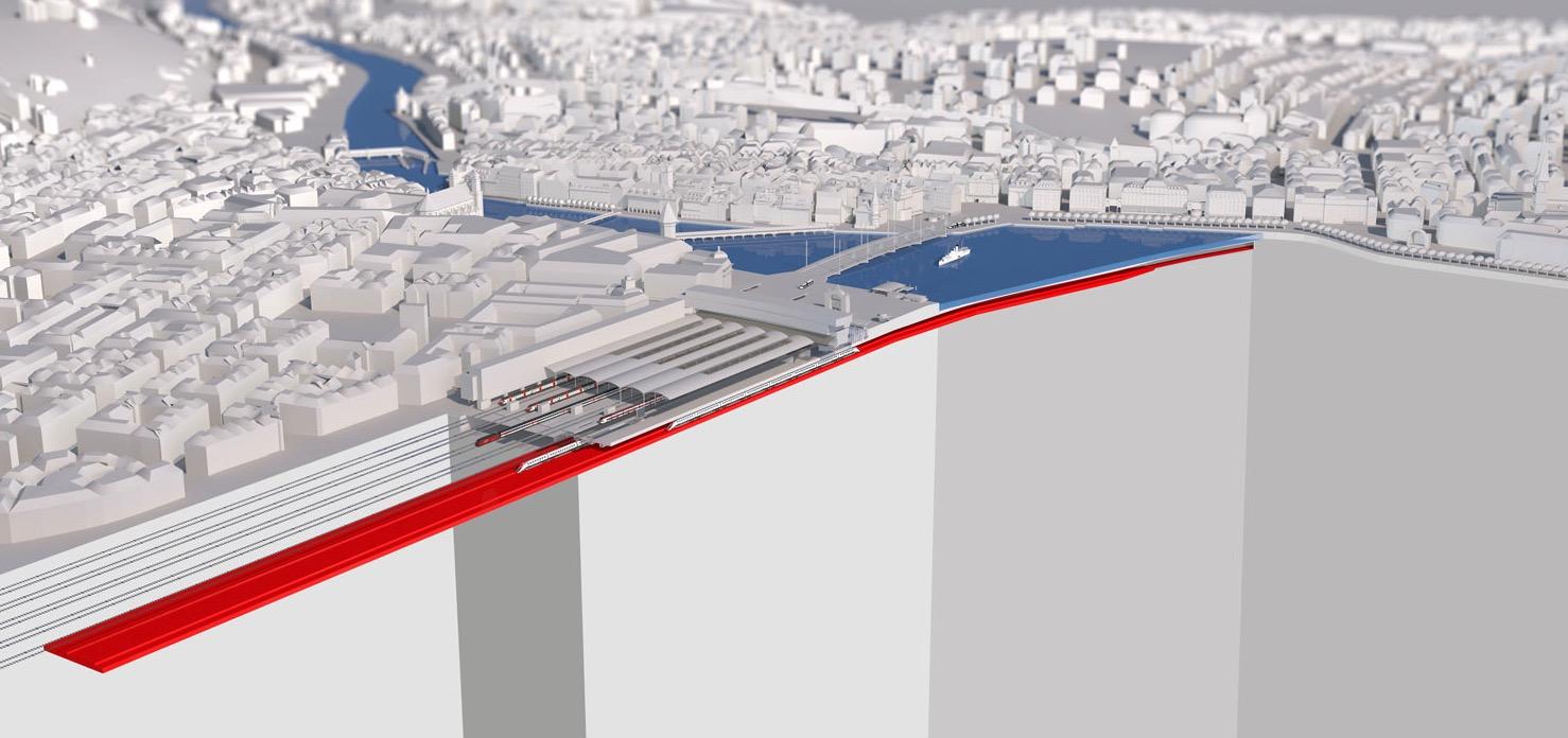 Vier Gleise kommen am Bahnhof Luzern unter den Boden.