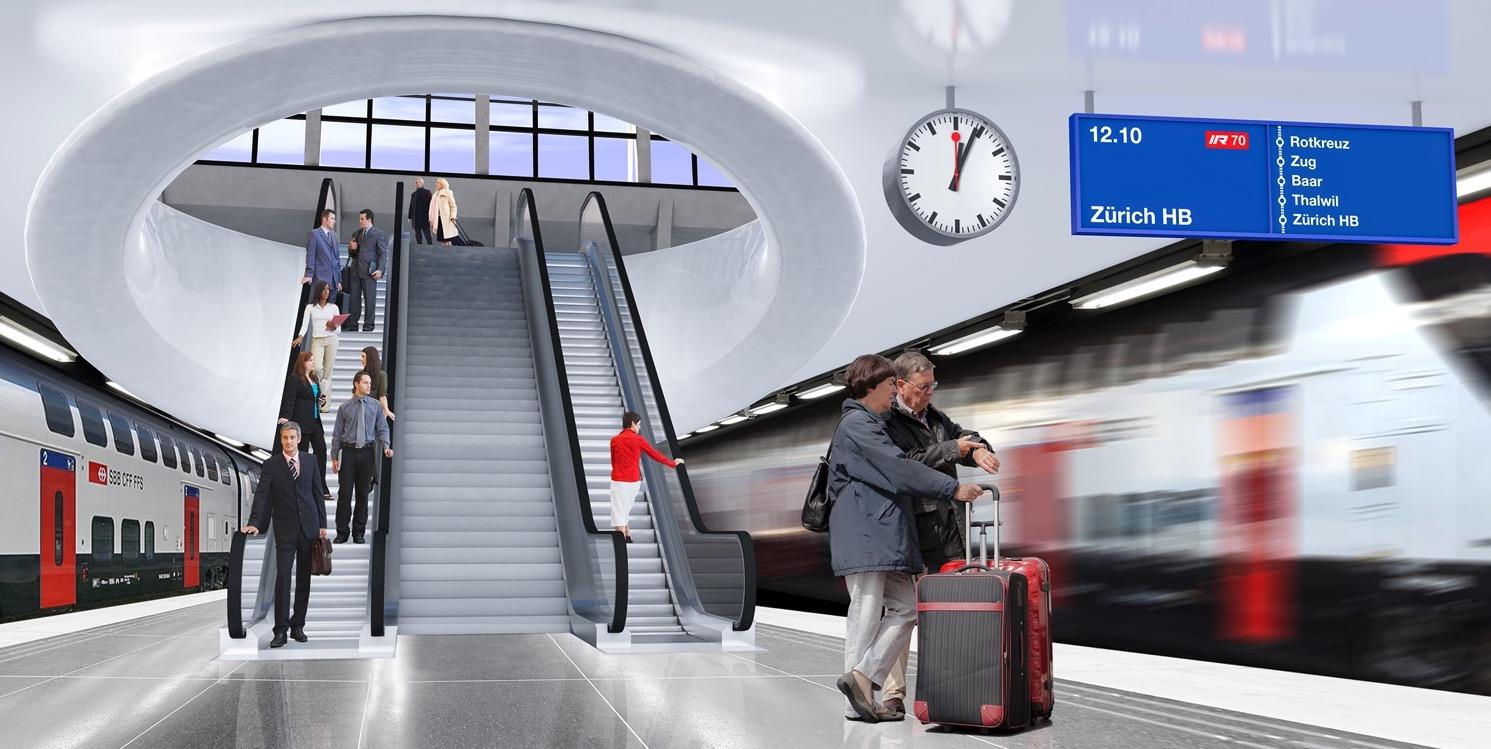 Im Bahnhof Luzern wird es ein zweites Untergeschoss geben.