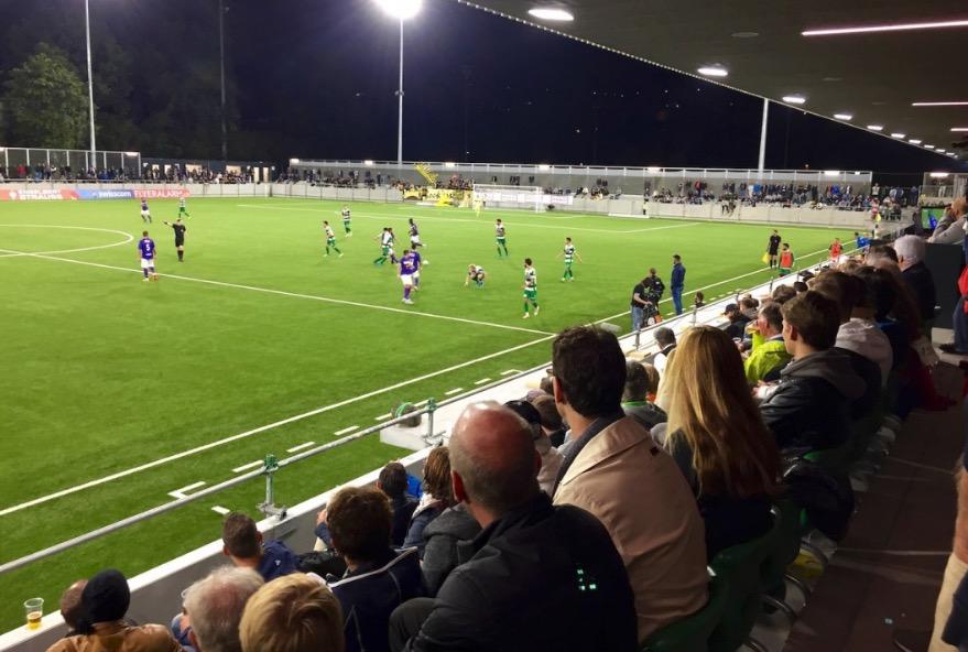 Ende September fand das erste Spiel im neuen Kleinfeld-Stadion statt.