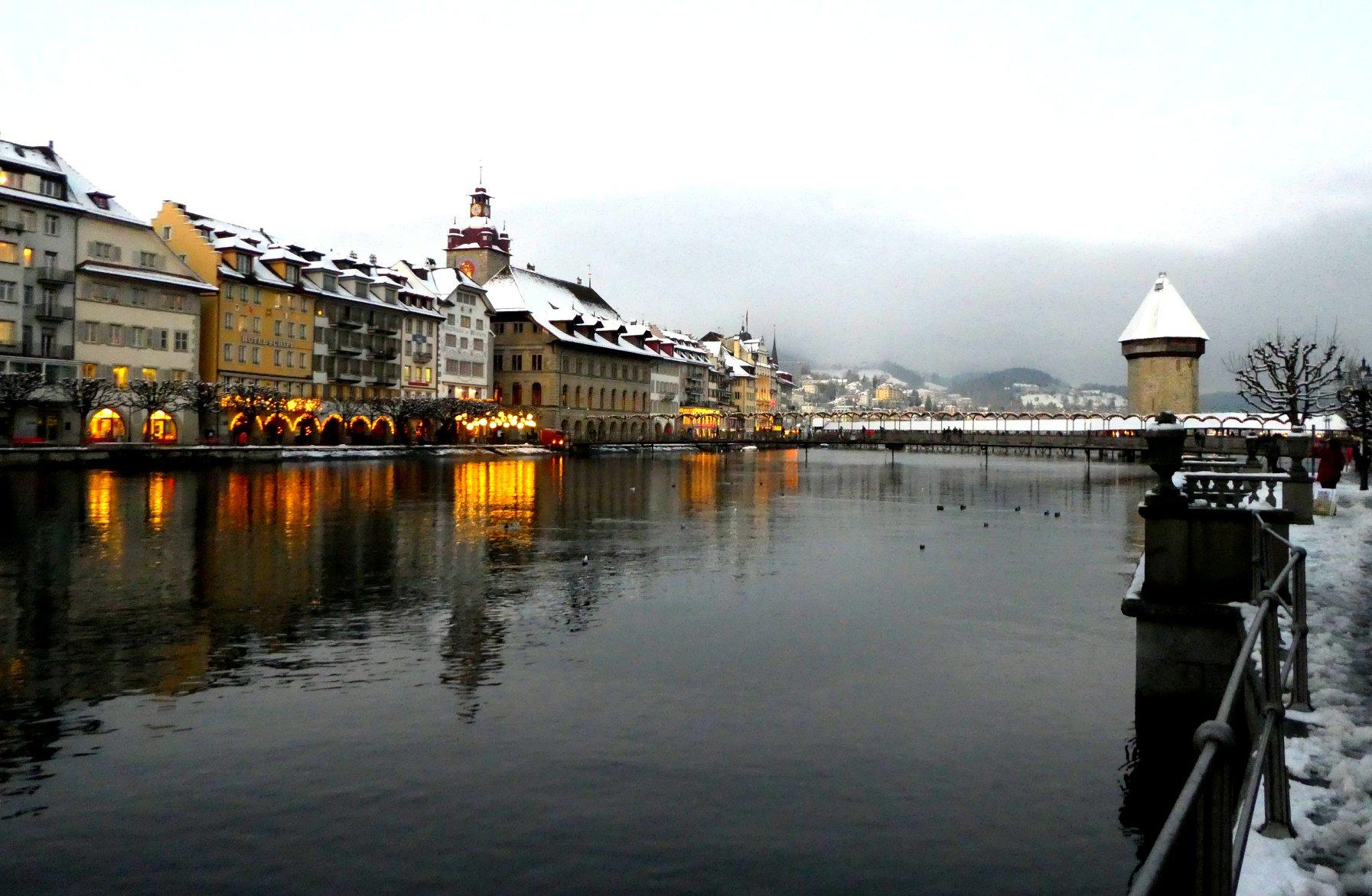 So präsentierte sich am Sonntag die Stadt Luzern.