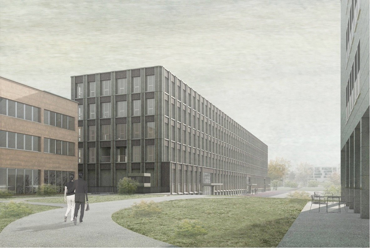 Der geplante Neubau für die Verwaltung und den Rettungsdienst.