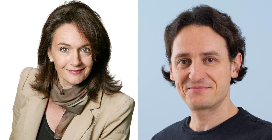 Lisa Zanolla, Kommissionspräsidentin (SVP) und Adrian Albisser, SP-Grossstadtrat.
