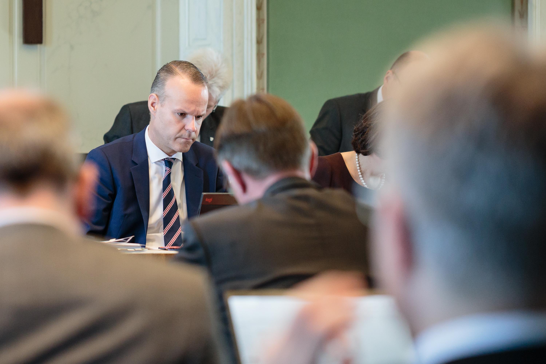 Stephan Schleiss während einer Kantonsratssitzung.
