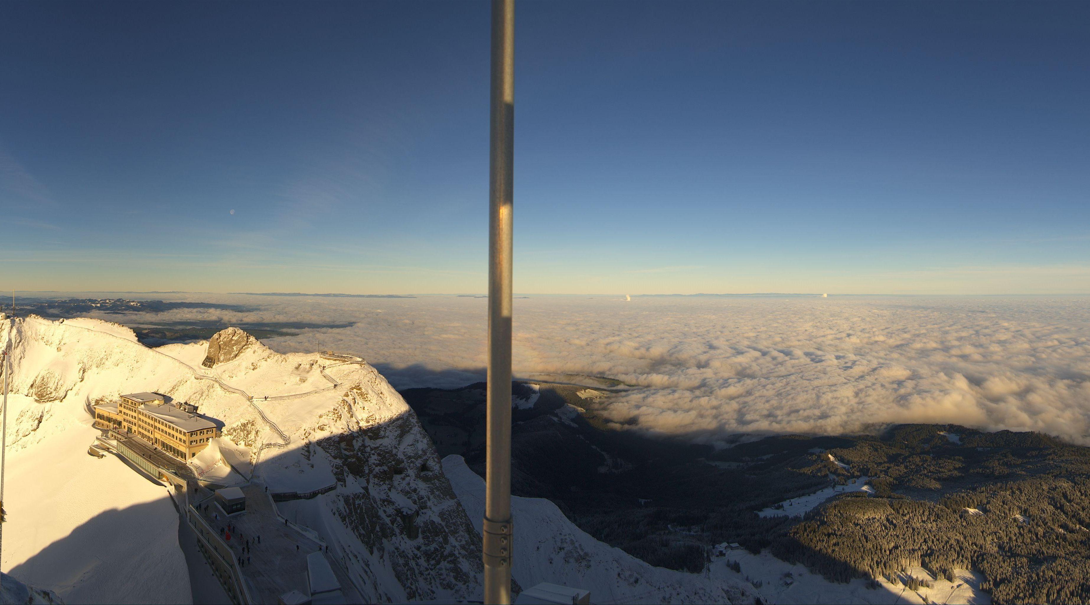 Blick vom Pilatus auf Luzern.
