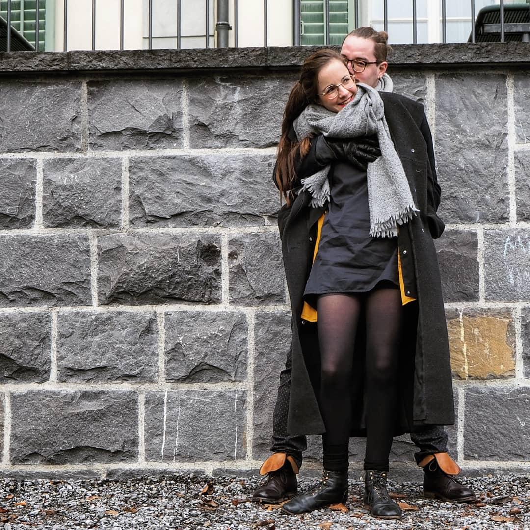 Zippora Marti mit ihrem Mann Mischa.