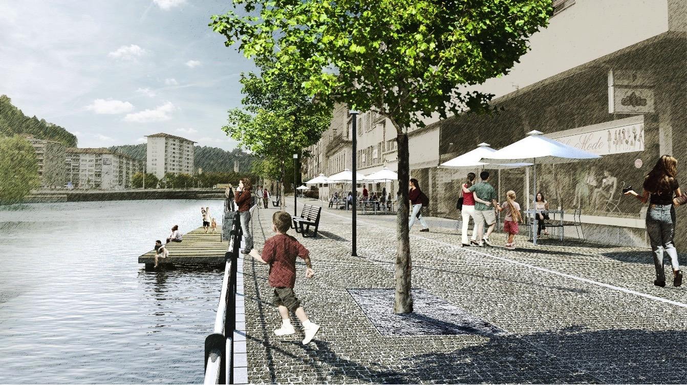 Auch der St.-Karli-Quai soll neu gestaltet werden, zum Beispiel soll der Zugang zum Wasser verbessert werden.