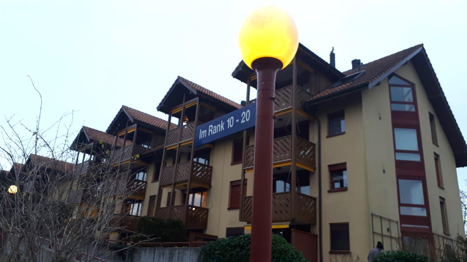 Siedlung im Rank in Zug, wo Nachbarn gegen eine Kinderkrippe vorgegangen sind.