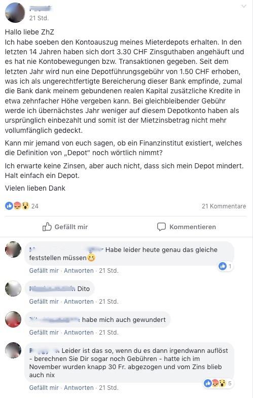 So wendet sich jemand an die Facebook Community Zuger helfen Zugern.