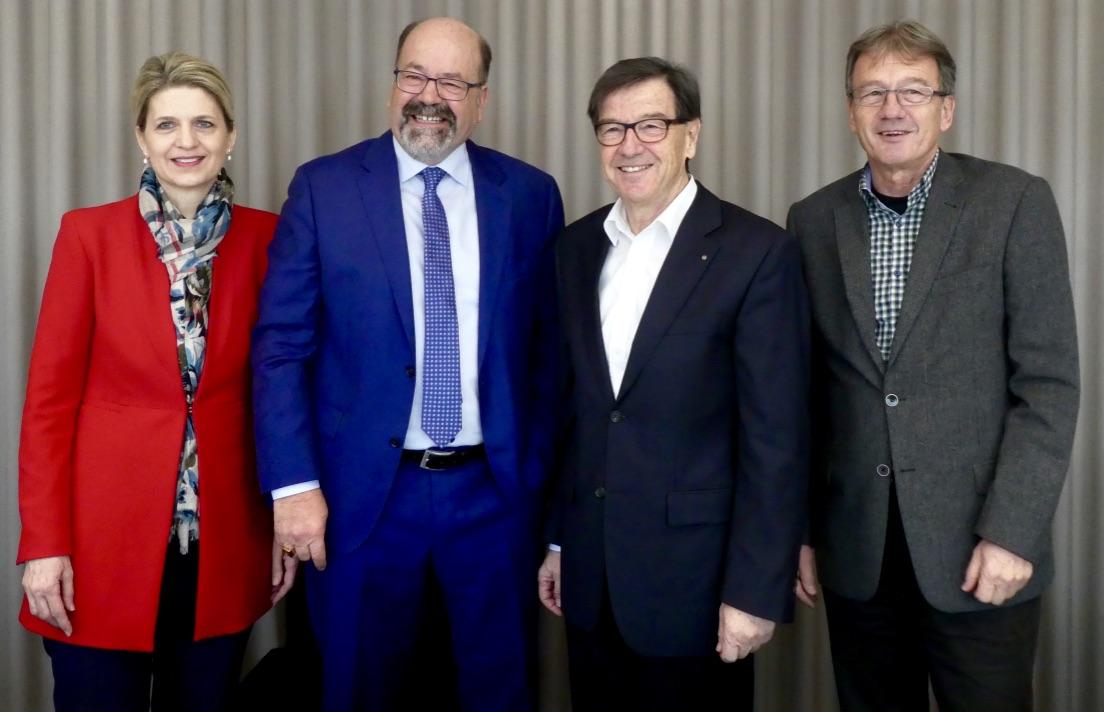 Von links: Birgitt Siegrist, Joachim Eder, Bruno Pezzatti und Jürg Portmann