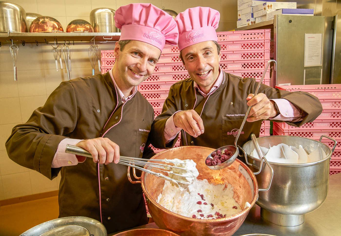 Die beiden Inhaber Matthias und Raphael Bachmann.