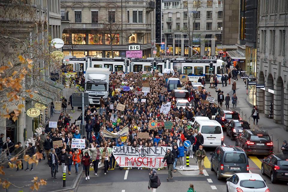 Der Klimastreik in Zürich am 21. Dezember 2018.