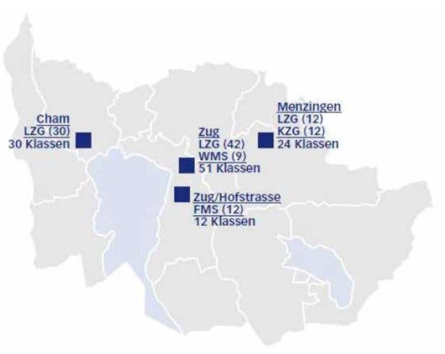 Die kantonale Planung der Mittelschulen mit dem neuen Standort Cham.