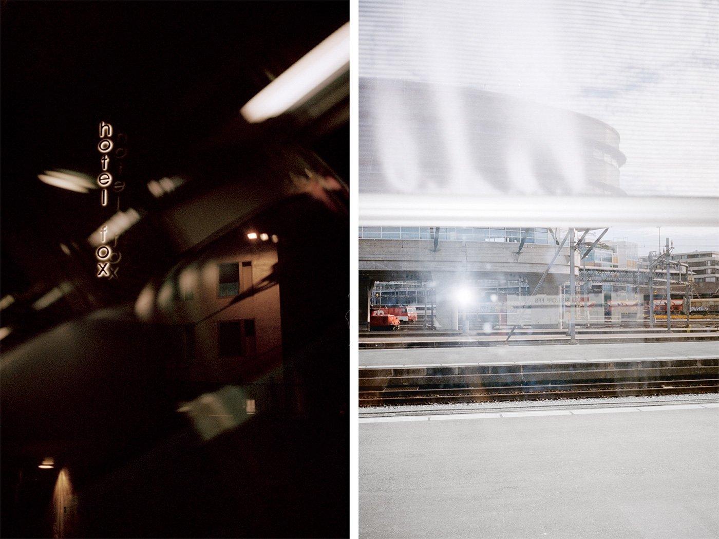 Luzern festgehalten durchs Zugfenster.