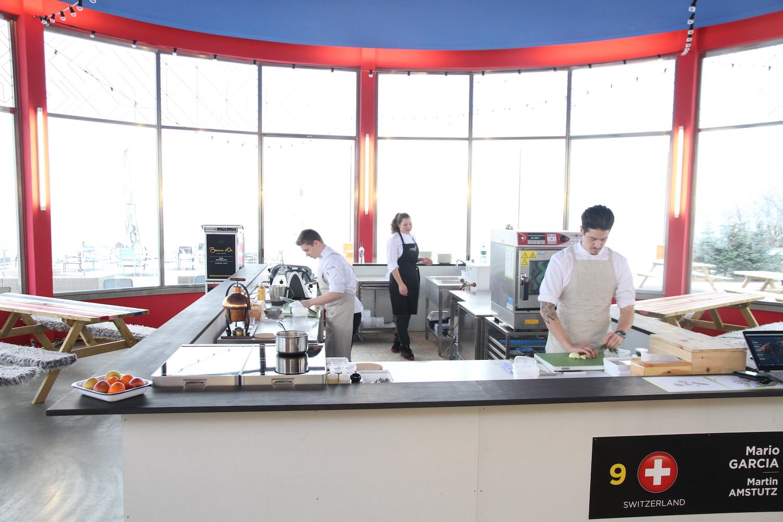 Die Küche im Lido ist eine getreue Nachbildung der Wettbewerbsküche in Lyon.