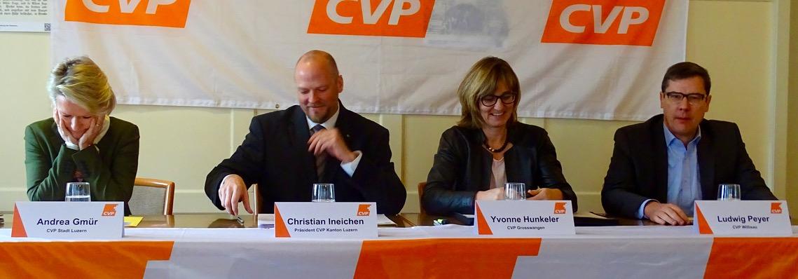 Die CVP Luzern lud diesen Mittwoch zur Medienkonferenz.