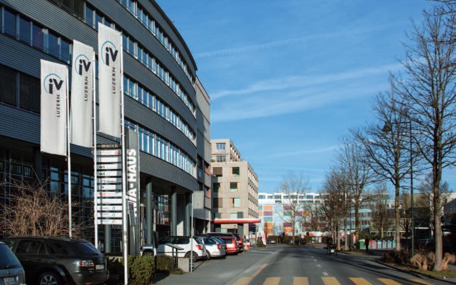 Der Sitz der IV-Stelle an der Landenbergstrasse in Luzern. Auch die IV soll im neuen Zentrum Platz finden.