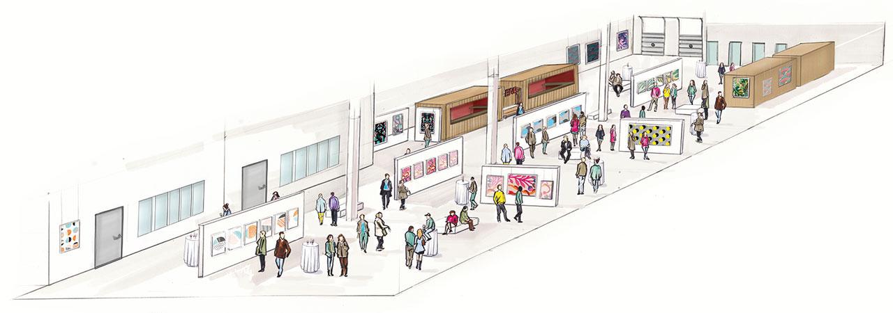 In der Eventhalle sollen beispielsweise Ausstellungen möglich werden.