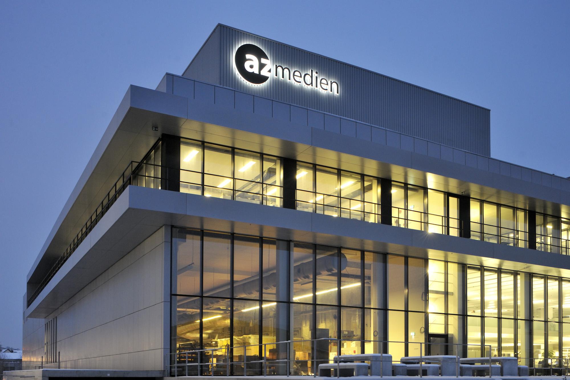 AZ Medien sind Gewinner der Fusion: Hier in Aarau wird in Zukunft der Mantelteil für die «Luzerner Zeitung» produziert.