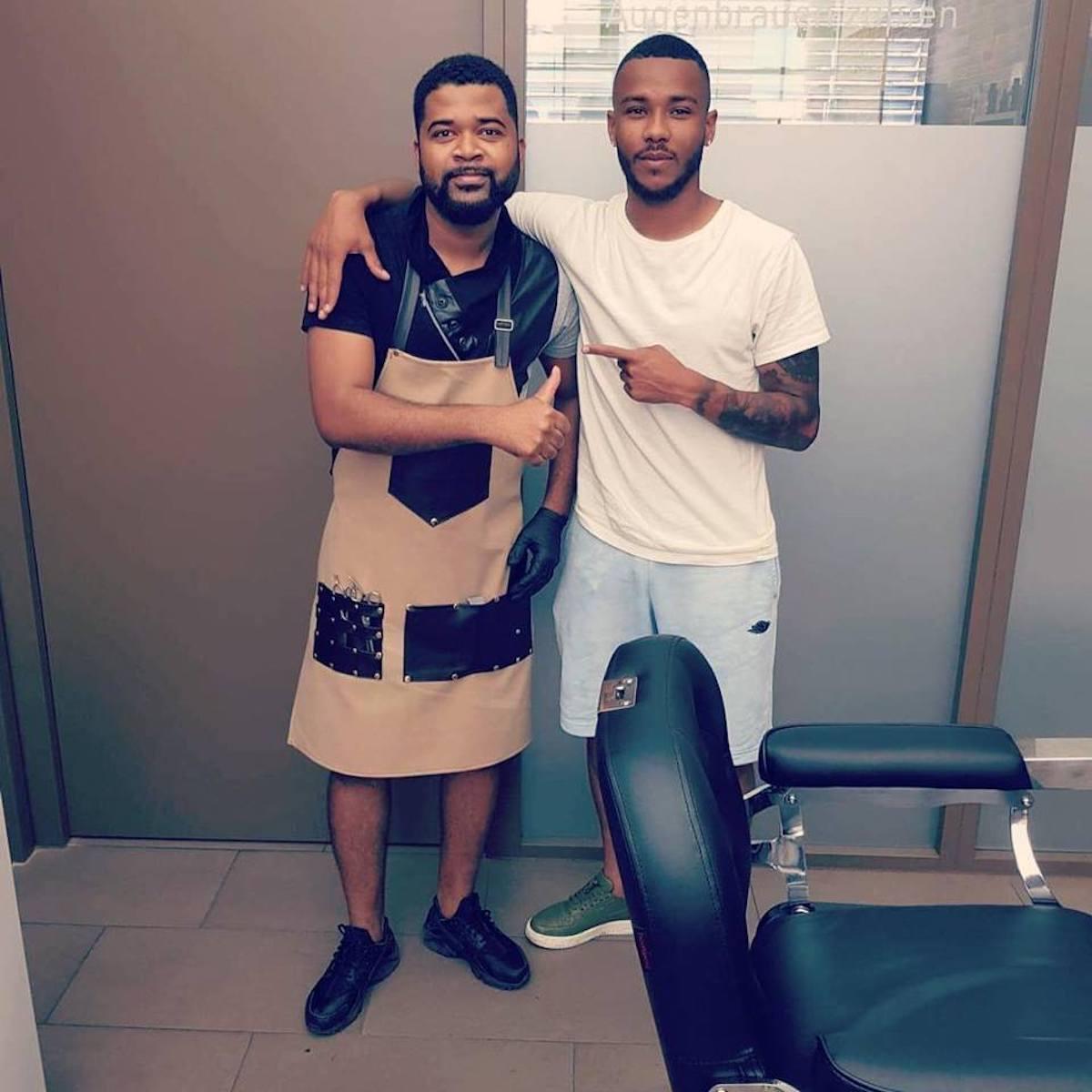 Ridauro Carvalho (links) mit dem gebürtigen Luzerner Chris Kablan, aktuell beim FC Thun.