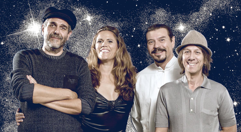 Die Luzernerin Andra Borlo mit Beni Mosele (von links), Carlos Ramirez und Pablo Lacolla.