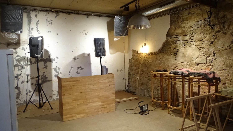 Der untere Raum soll künftig sowohl als Partyraum, als auch als Co-Working-Space genutzt werden.