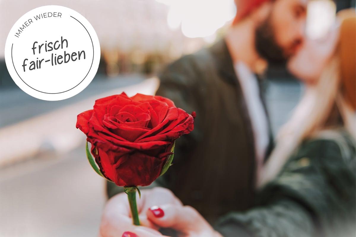 Rote Rosen soll man küssen
