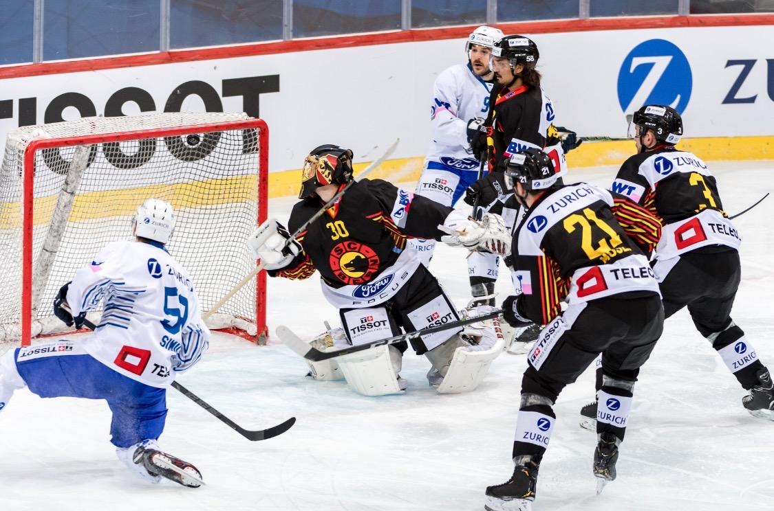 Dario Simion erzielt im Cup-Halbfinal in Bern das zwischenzeitliche 1:0 – der Stürmer ist der einzige im aktuellen EVZ-Kader, der schon mal in einem Cupfinal stand.