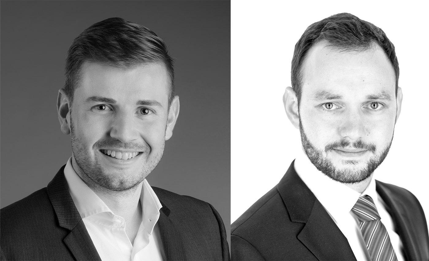 Die Gründer von Airhosted: Simon Ruckstuhl (links) und Lukas Wartmann.