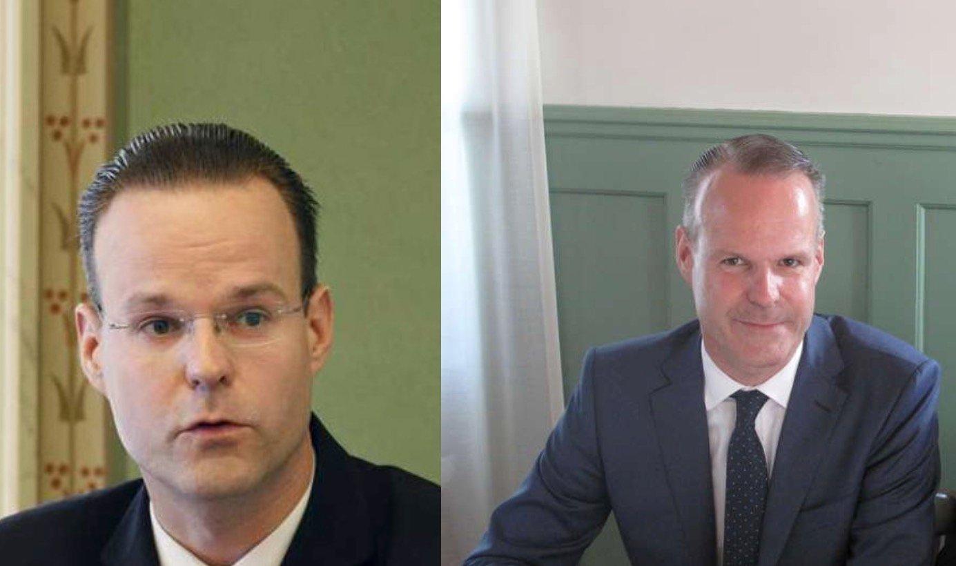 Regierungsrat Stephan Schleiss vor zehn Jahren und heute.