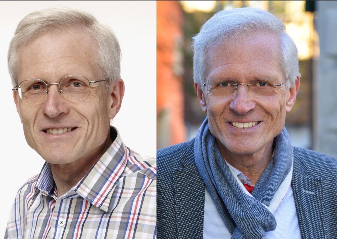 Kantonsrat Daniel Stadlin vor zehn Jahren und heute.