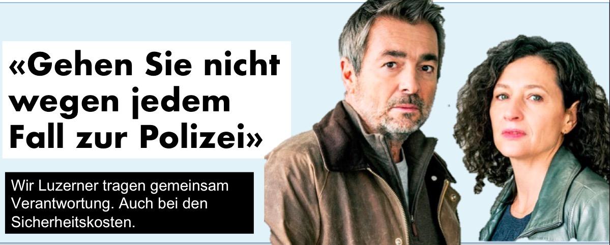 Nicht immer ist's so dramatisch wie bei den Luzerner Tatort Kommissaren.