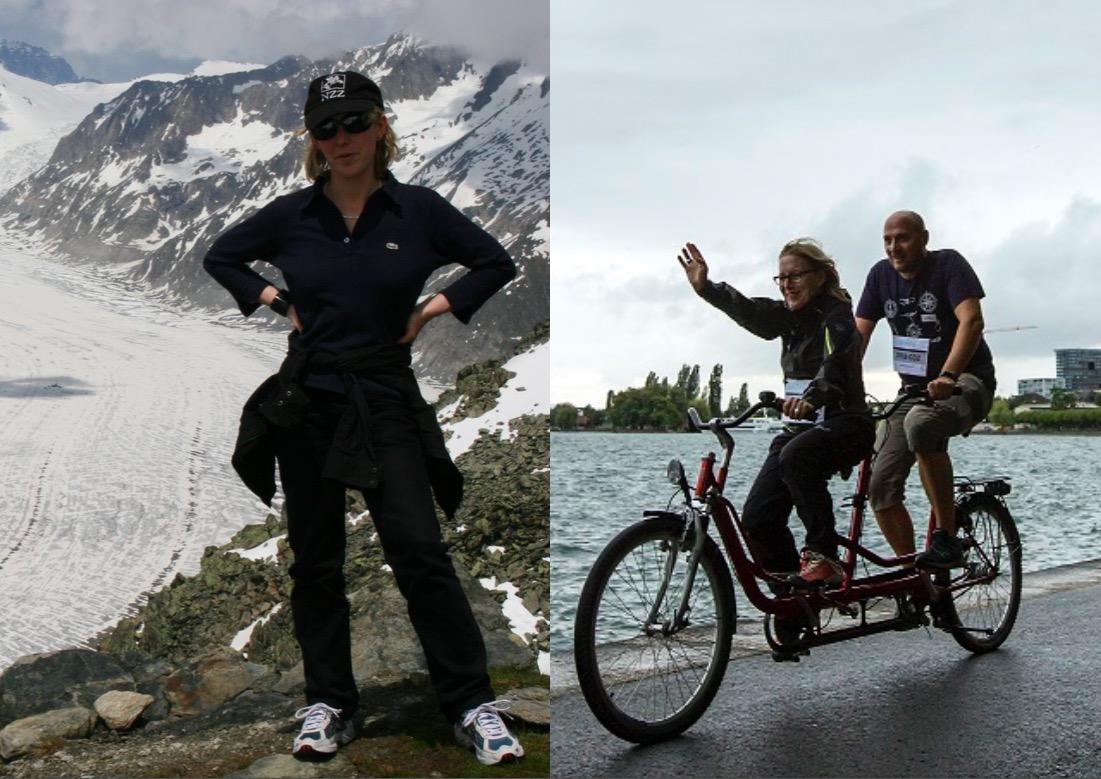 Kantonsrätin Barbara Gysel vor zehn Jahren und heute.