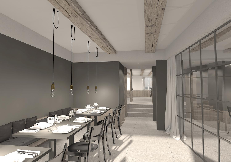 In etwa so könnte sich das Restaurant Taube in naher Zukunft präsentieren.