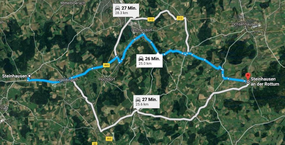 Praktisch, wenn die beiden Steinhausen gleich so nahe beieinander liegen.