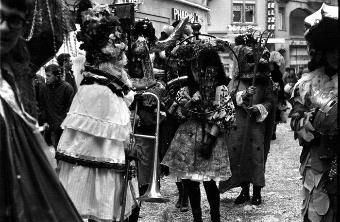 Eine Guggenmusik aus dem Jahr 1963. Bild:Staatsarchiv Luzern / Lisa Meyerlist