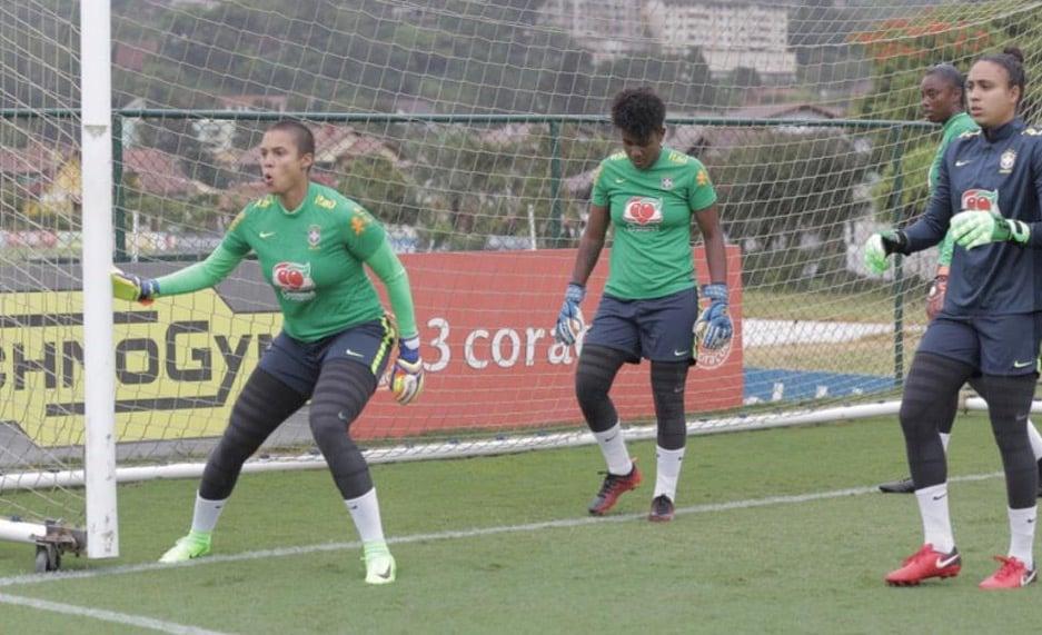 Natascha Honegger bei ihren ersten Trainings in der brasilianischen Nationalmannschaft.