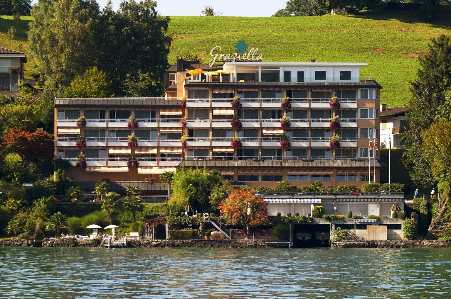 So sieht das Hotel «Graziella» an der Hertensteinstrasse, am Ende von Weggis, aus.