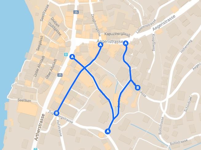 Die geplante Begegnungszone würde sich von der St. Oswaldsgasse über die Kirchen- und Dorfstrasse bis hin zur Bohlstrasse erstrecken.